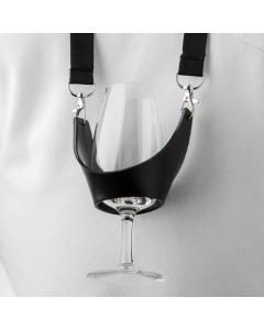 Porte verre à pied noir