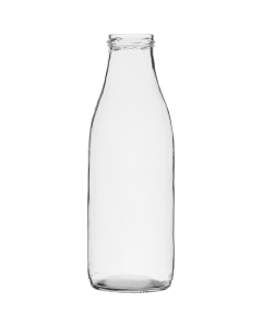 Glass milk bottle 100cl TO48