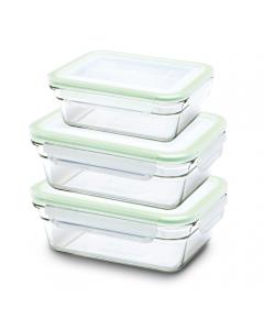 Set de 3 boîtes hermétiques Glasslock