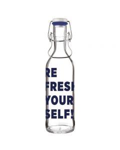 Personalised glass flask