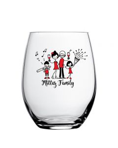 Personalised drinking glass