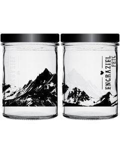 Personalised glass jar
