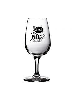 Personalised wine glass