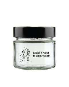 Personalised wedding jam jar