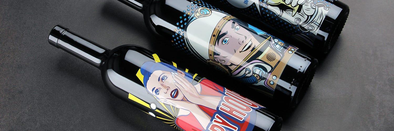 bouteille à vin et bouteilles en verre personnalisable sur Glassmania